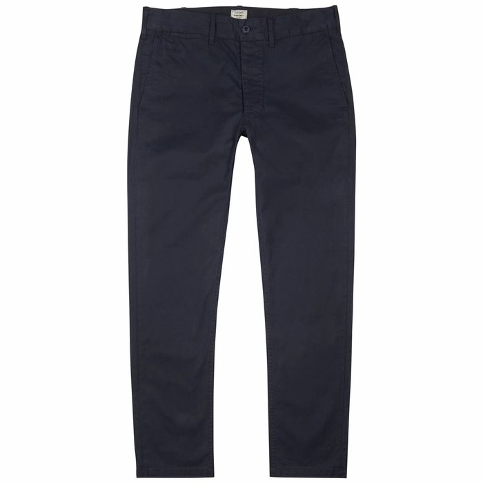 Citizens Of Humanity Logan Navy Cotton-blend Chinos
