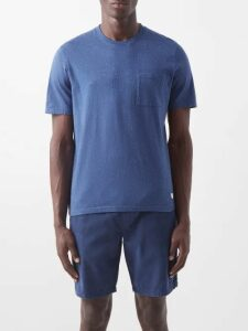 Prada - Striped Mesh Track Pants - Mens - Blue Multi