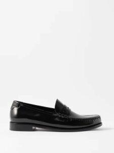 Hope - West Wide Leg Wool Blend Poplin Trousers - Mens - Black