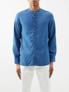 Saturdays Nyc - Indigo Dyed Hooded Cotton Sweatshirt - Mens - Blue