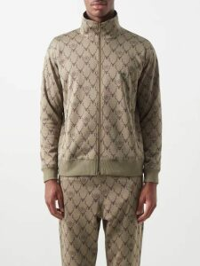 All At Sea - Anchor Print Silk Trousers - Mens - Blue