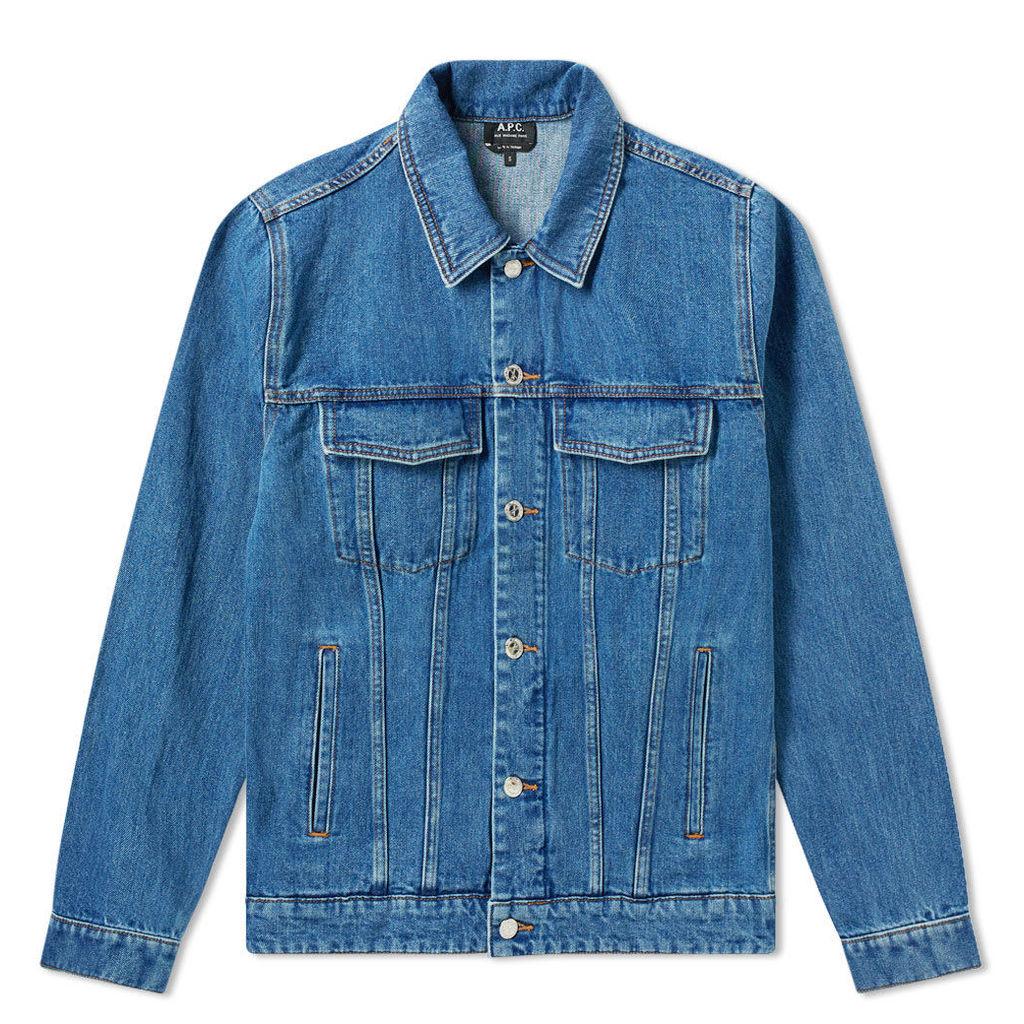 A.P.C. Charles Washed Denim Jacket Washed Indigo
