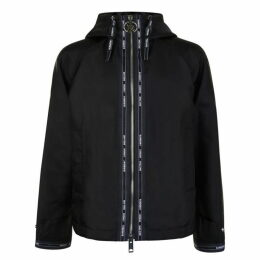 Burberry Logo Detail Nylon Hooded Jacket