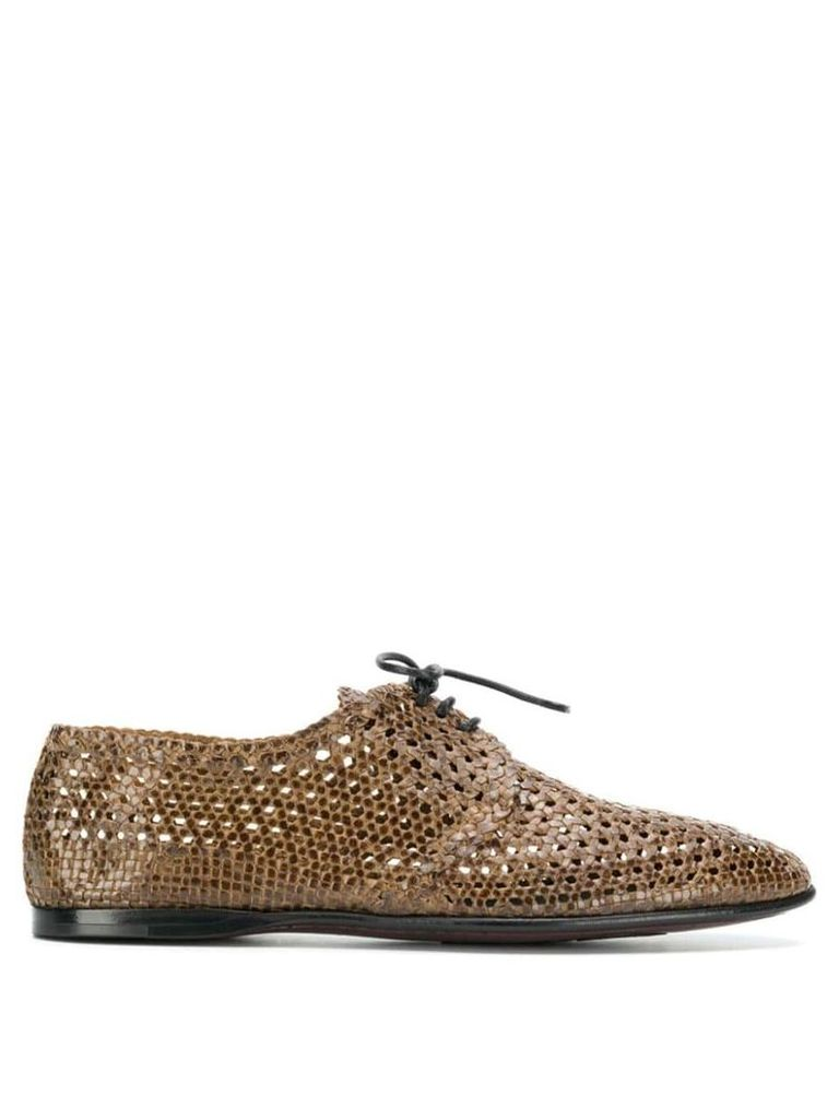 Dolce & Gabbana woven derby shoes - Brown