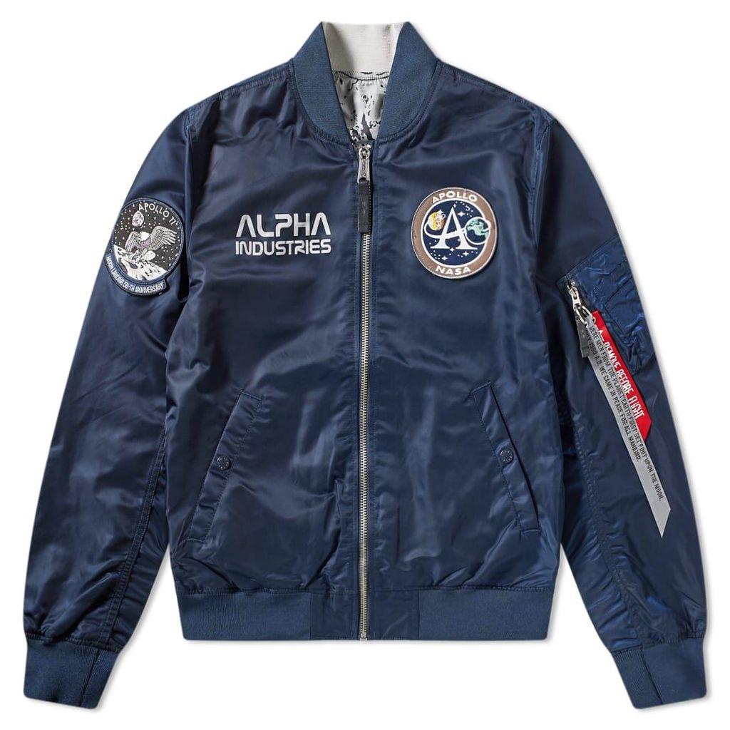 Alpha Industries MA-1 Moon Landing Reversible Jacket Replica Blue