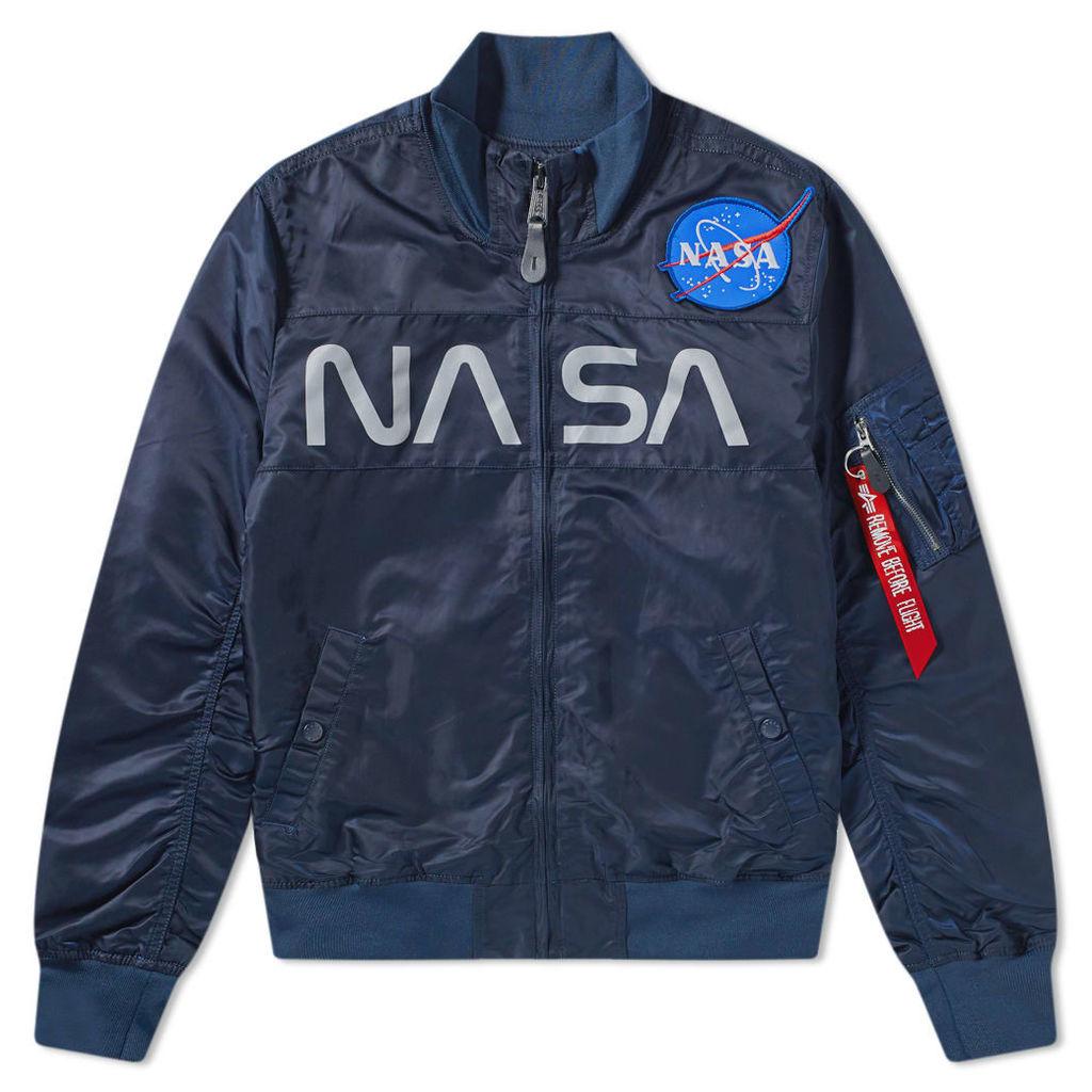 Alpha Industries NASA Funnel Neck Jacket Replica Blue