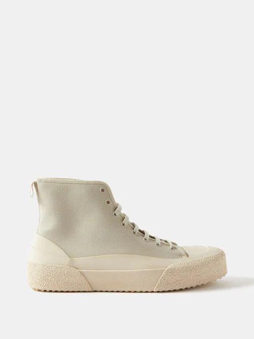 Burberry - Chalk Striped Wool Twill Trousers - Mens - Navy Multi