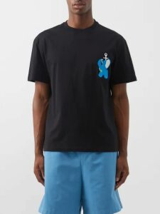 Burberry - Tumbled Wool Wide Leg Trousers - Mens - Orange