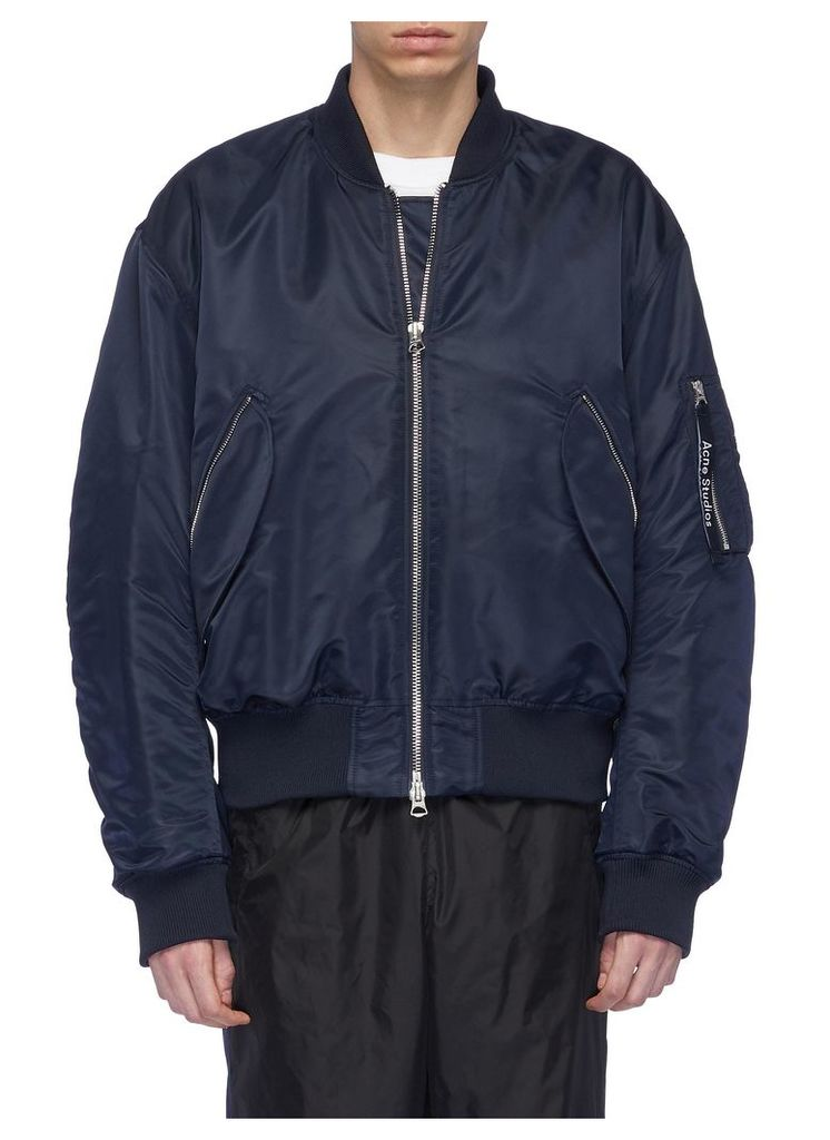 Water-repellent MA-1 bomber jacket