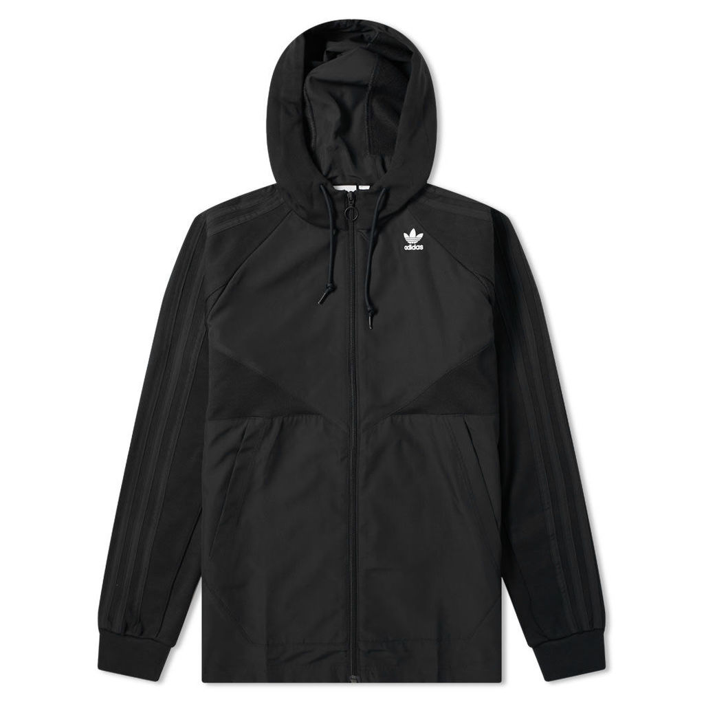 Adidas Full Zip Windbreaker Hoody Black