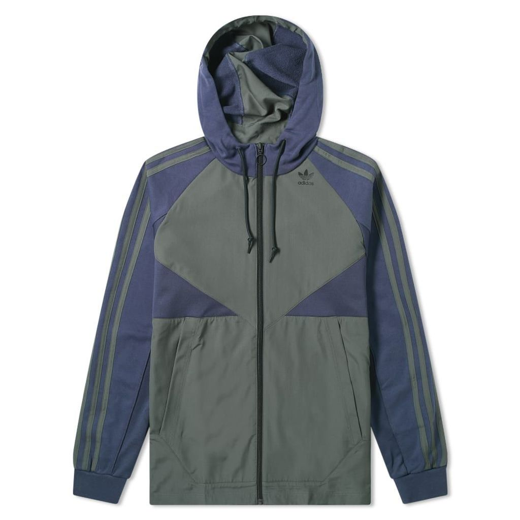 Adidas Full Zip Windbreaker Hoody Trace Blue