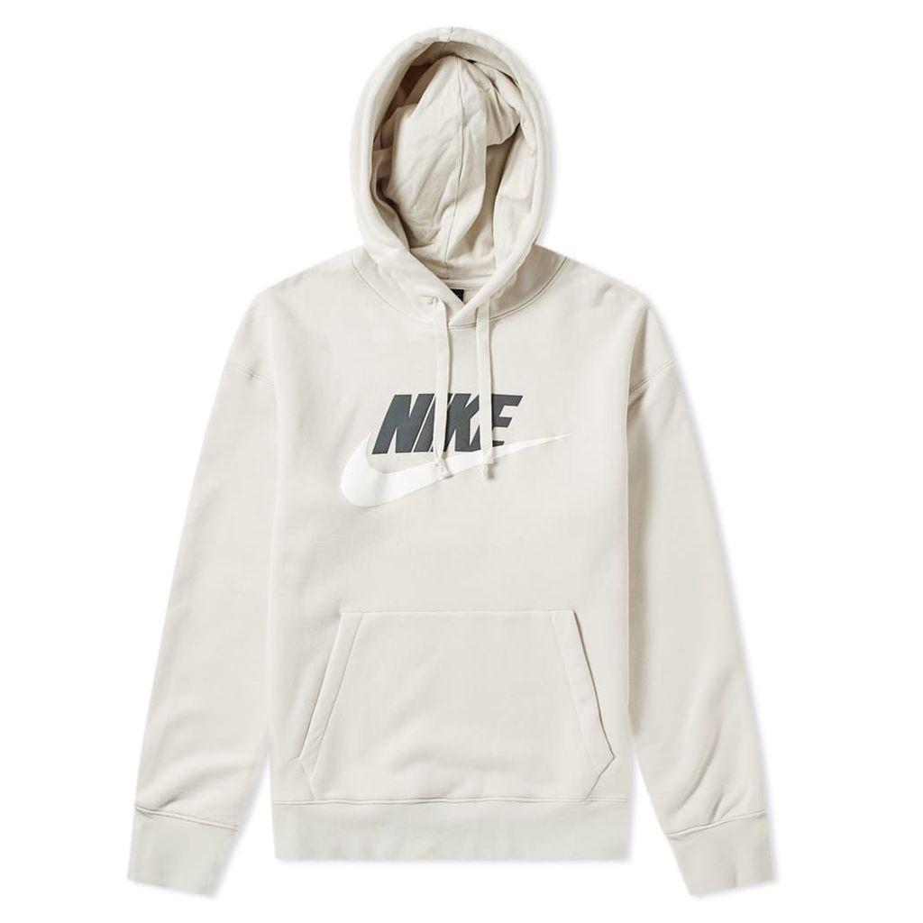 Nike Heritage Logo Pullover Hoody Light Bone