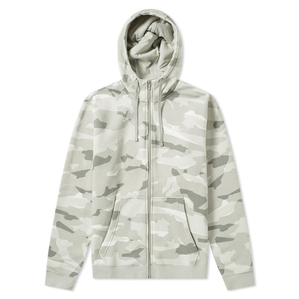 Nike NSW Camo Club Hoody Spruce Fog & White