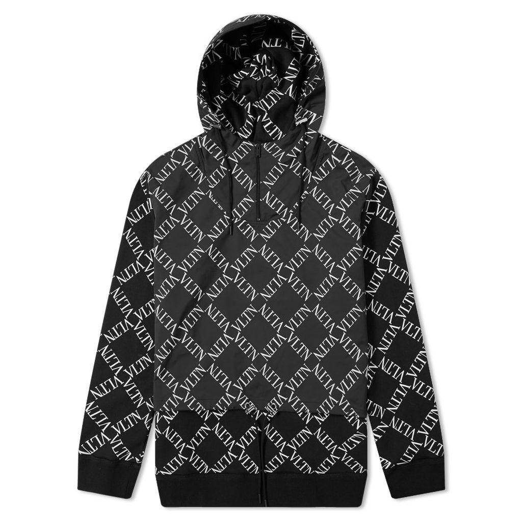 Valentino V Grid Logo Track Jacket Black & White