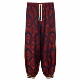 Gucci Panelled Jacquard Trousers