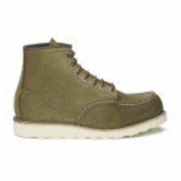 Red Wing Men's 6 Inch Moc Toe Leather Lace Up Boots - Olive Mohave - UK 8/US 9