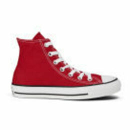 Converse All Star Canvas Hi-Top Trainers - Red - UK 11