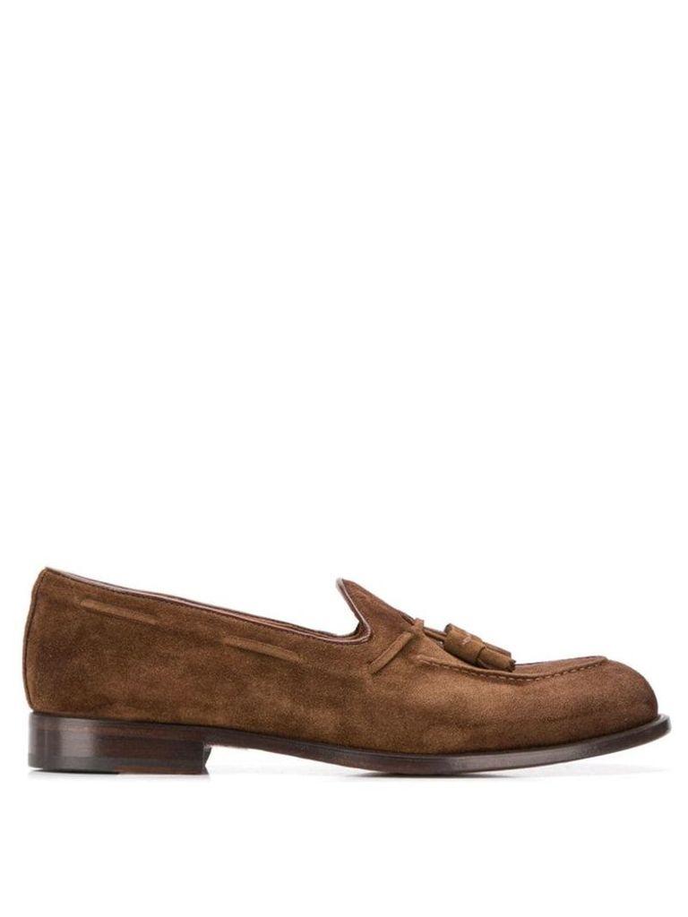 Doucal's tassel embellished loafers - Brown