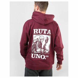 Original Ruta Uno Pullover Hoodie - Burgundy (S)
