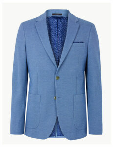M&S Collection Cotton Blend Slim Fit Jacket