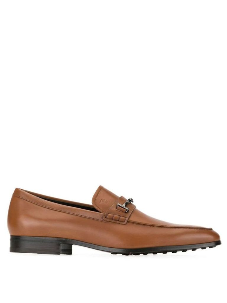 Tod's logo loafers - Brown