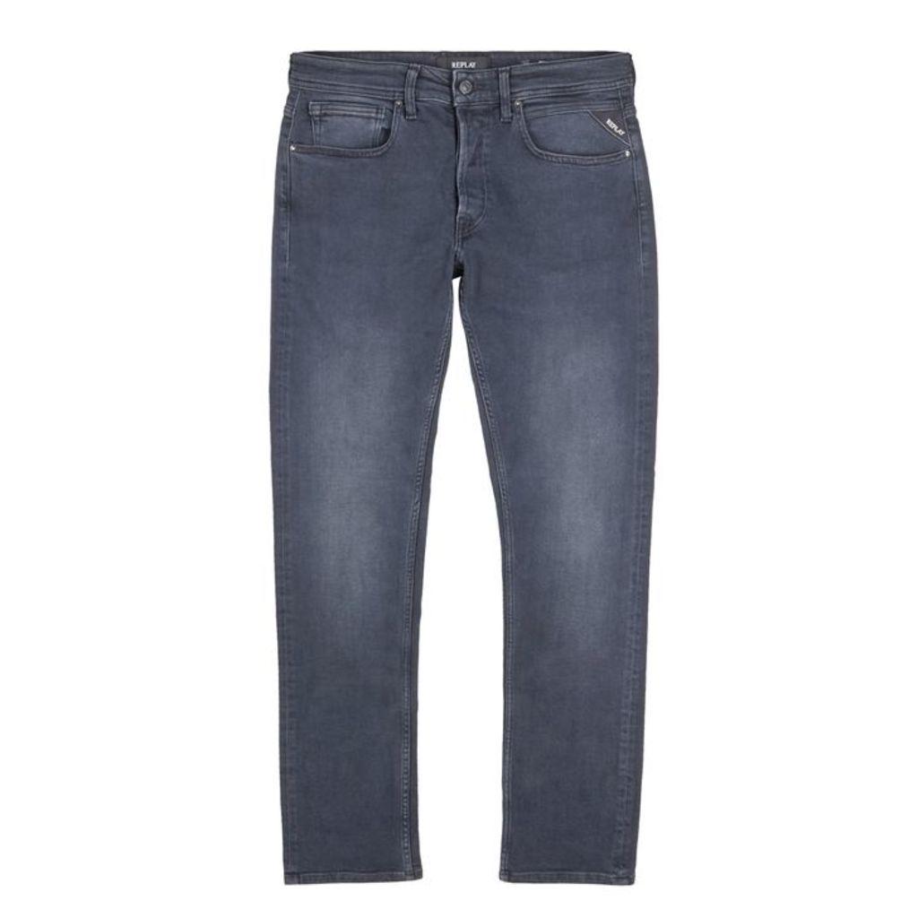 Replay Grover Dark Blue Straight-leg Jeans