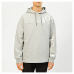 Wooyoungmi Men's Logo Hoodie - Grey - EU 52/XL - Grey