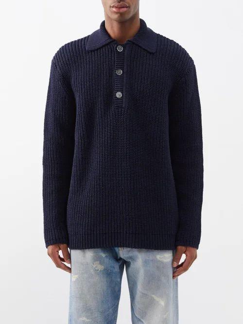 Valentino - Camouflage Print Cotton Track Pants - Mens - Grey