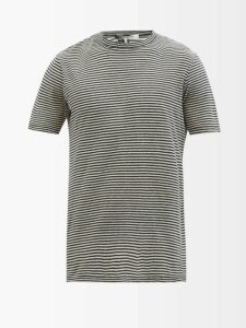 King & Tuckfield - High Rise Cotton Chambray Trousers - Mens - Indigo