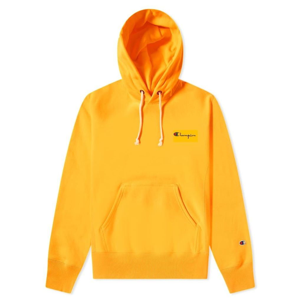 Champion Reverse Weave Small Script Logo Hoody Fluo Orange