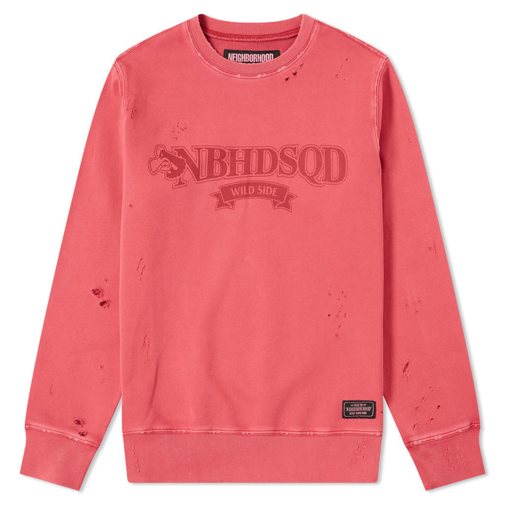 Neighborhood Wild Side Crew Sweat Red