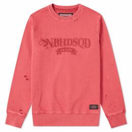 Neighborhood Wild Side Crew Sweat Red