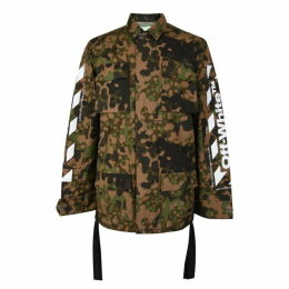 Off White Camouflage Diagonal Field Jacket
