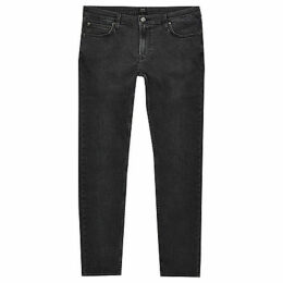 Mens River Island Lee Grey wash Malone skinny fit jeans
