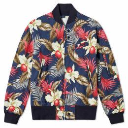 Engineered Garments Hawaiian Floral Jacket Navy
