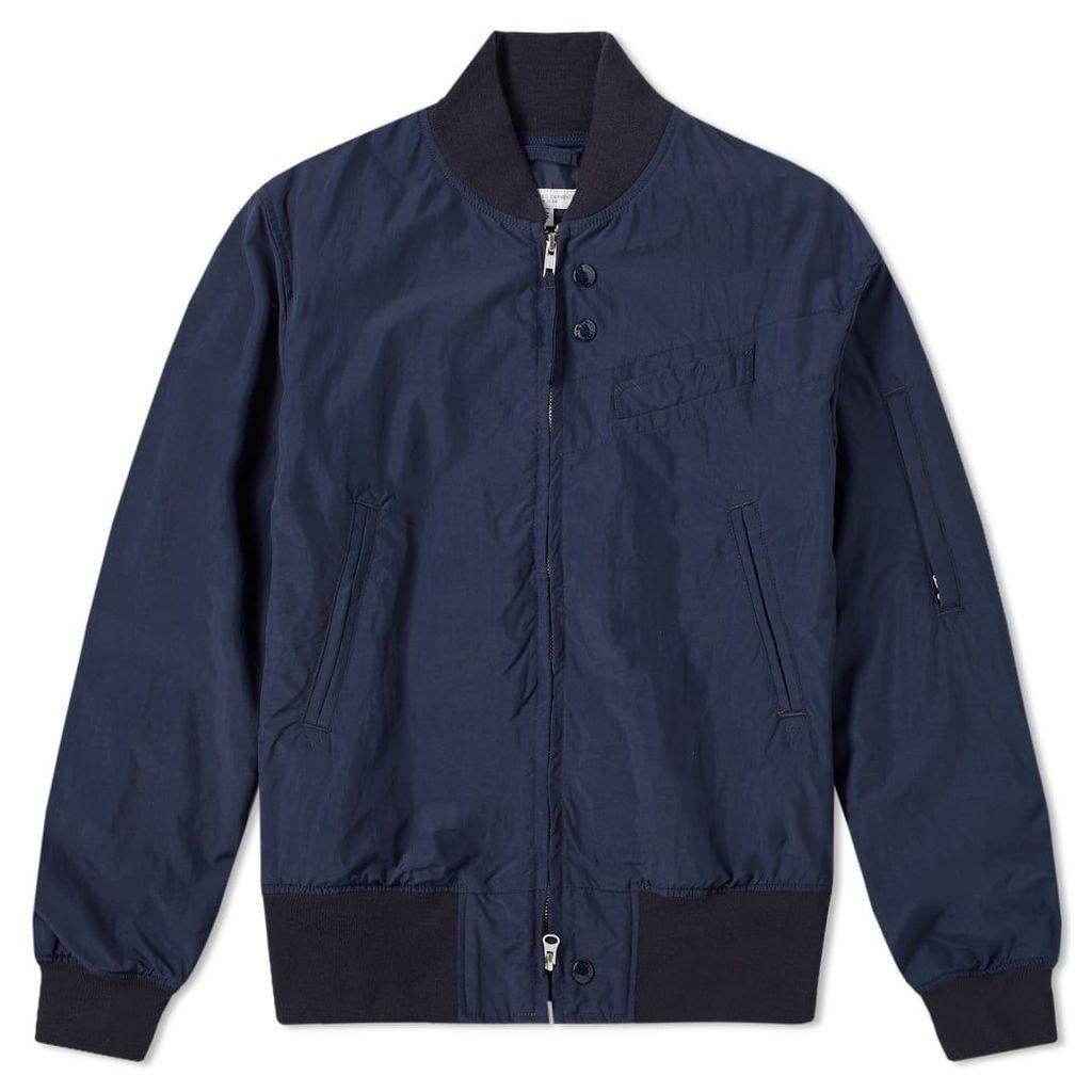 Engineered Garments Nylon Aviator Taffeta Jacket Navy