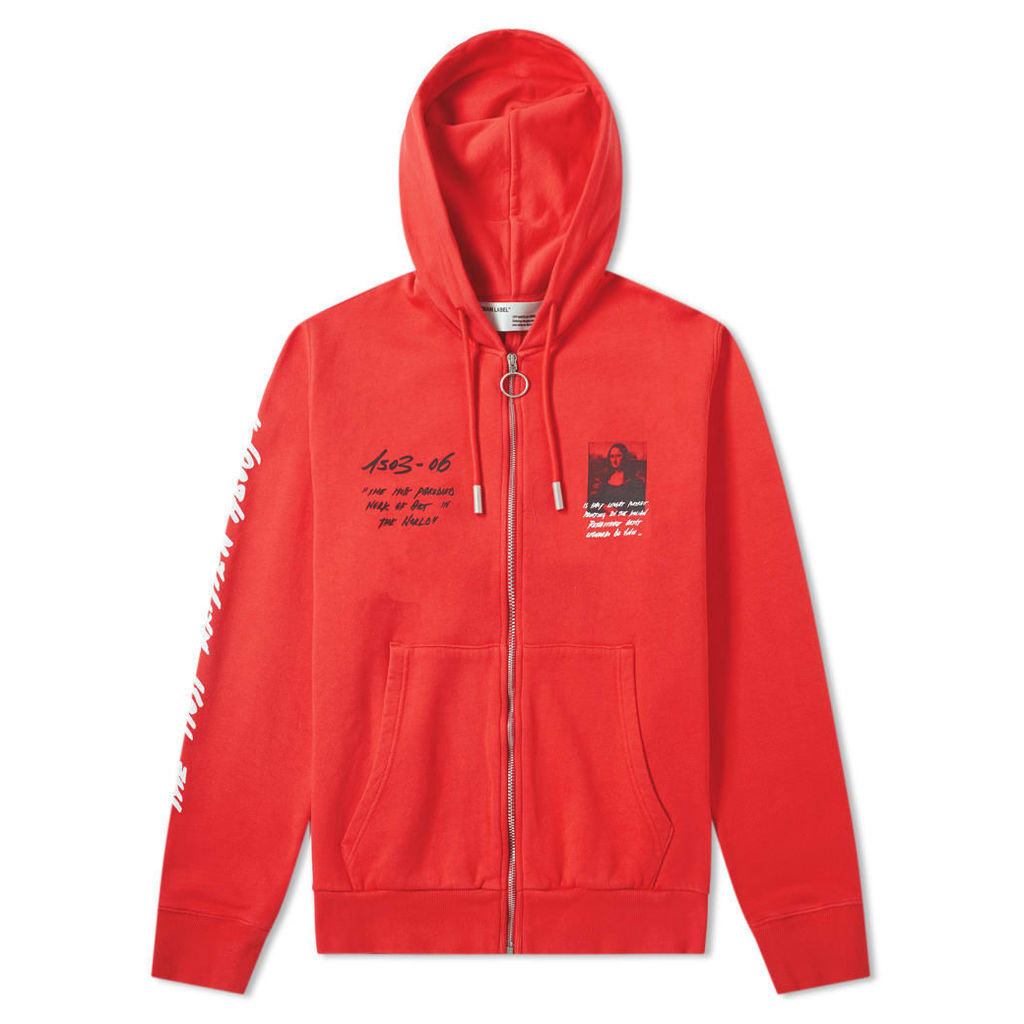 Off-White Mona Lisa Zip Hoody Red & Black