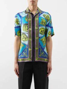 Maison Kitsuné - Jacquard Stripe Embroidered Logo Wool Sweater - Mens - Navy