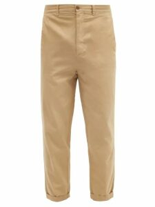 Raey - Tapered Leg Cotton Chino Trousers - Mens - Beige