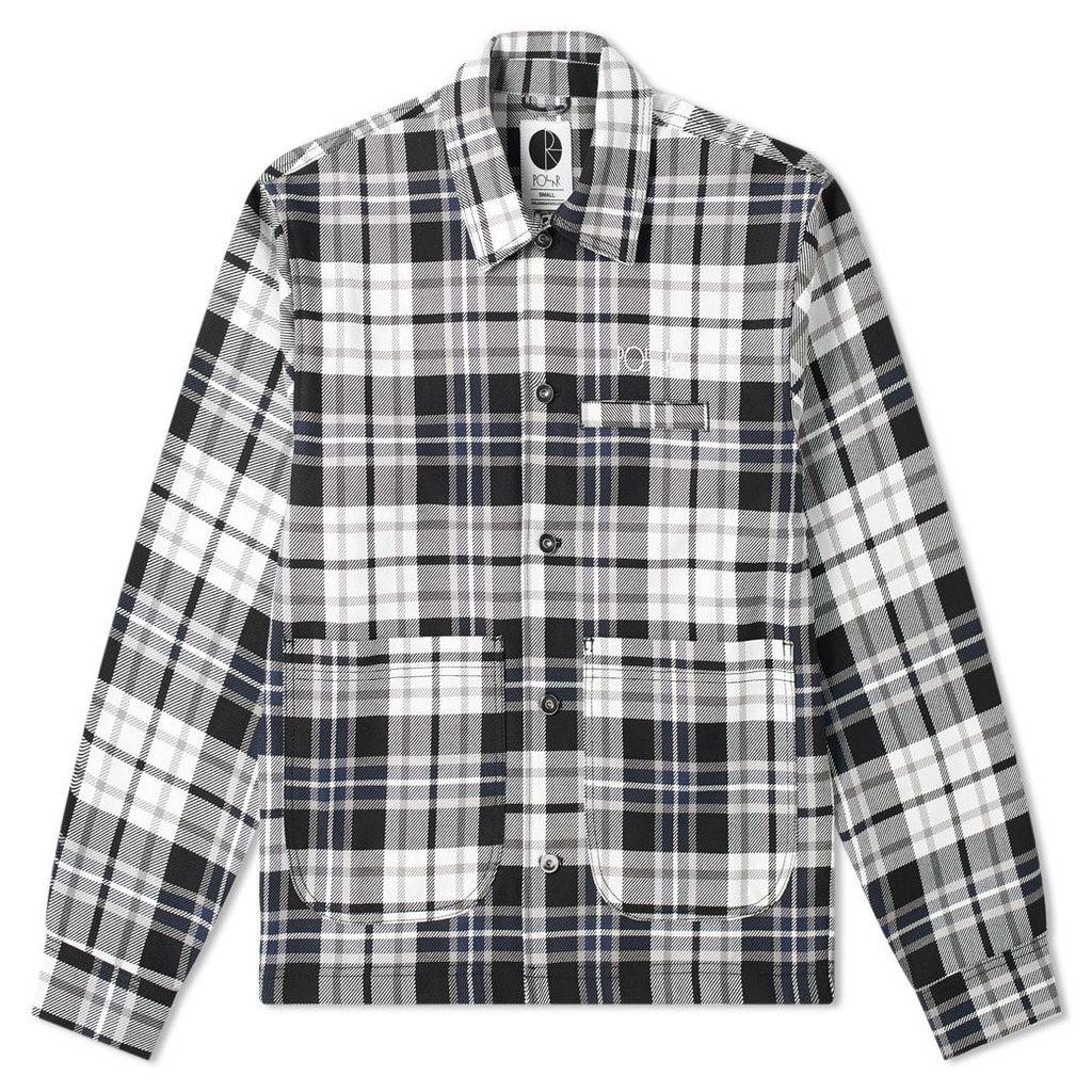 Polar Skate Co. Plaid Work Jacket Grey