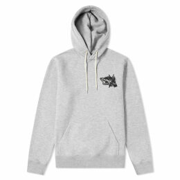 Soulland Beware of the Dog Popover Hoody Grey