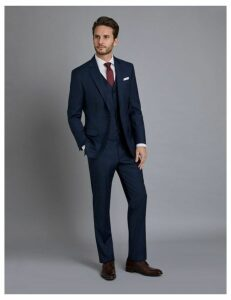 ae545afa7b1 Men s Navy   Brown Windowpane Check Tailored Fit Italian Suit – 1913  Collection