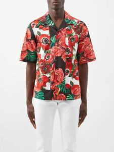 Officine Générale - Drew Cotton Blend Seersucker Straight Leg Trousers - Mens - Indigo