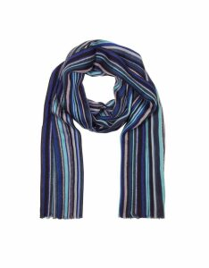 Paul Smith Designer Men's Scarves, Navy Blue Men's Scarf