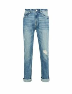 Mens Blue Tint Carter Tapered Fit Jeans, Blue