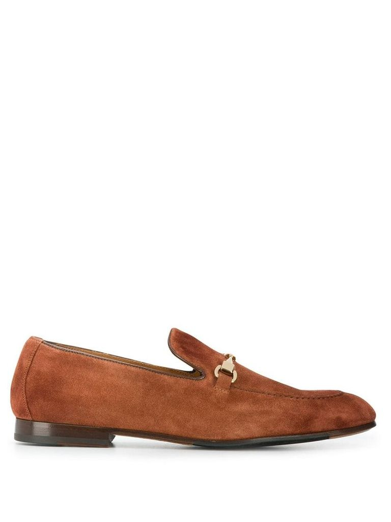 Doucal's C point monk shoes - Brown