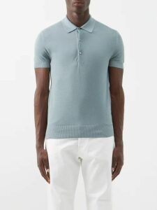 J.w. Brine - James Straight Leg Linen Blend Trousers - Mens - Blue
