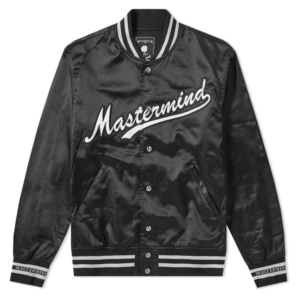 MASTERMIND WORLD Nylon Skull Varsity Jacket Black