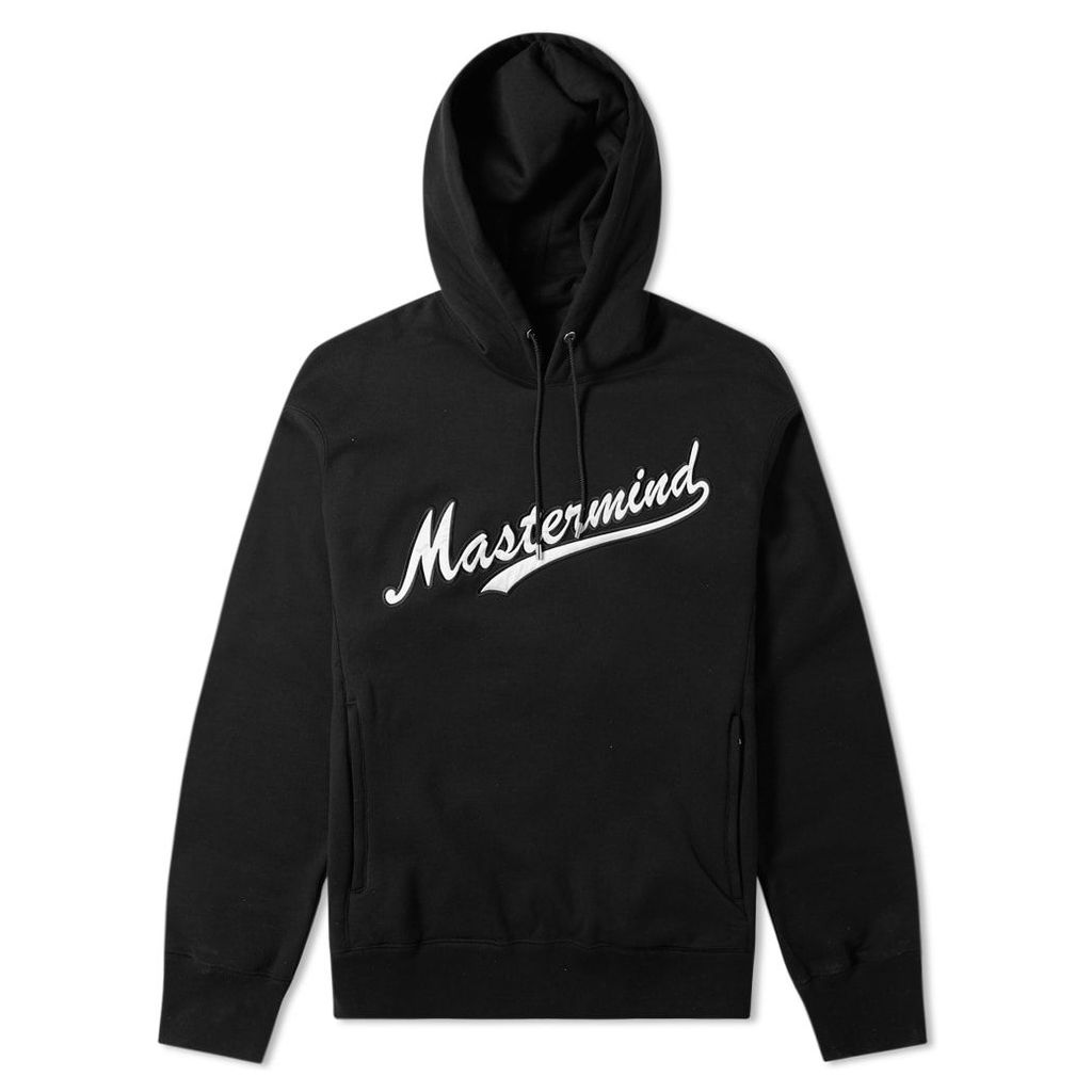 MASTERMIND WORLD Varsity Script Logo Popover Hoody Black