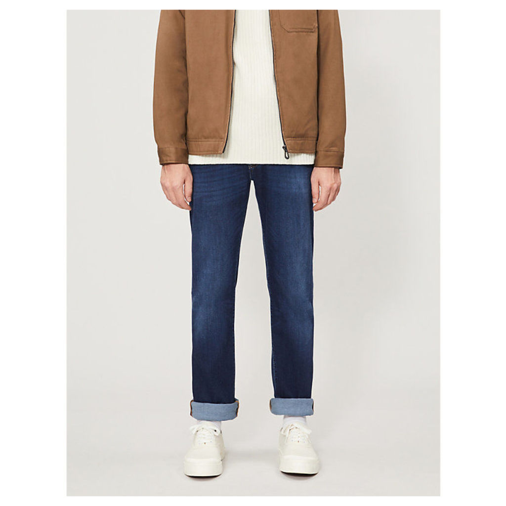 Faded regular-fit straight jeans